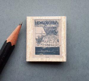 miniatuurboekje strindberg hemsöborna